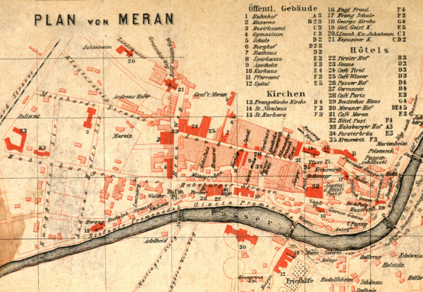 Merano in the second half of the 19th century. Tourist guide